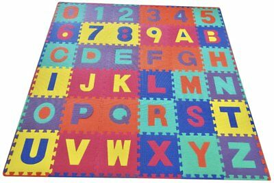 """36 Tiles Numbers Learning 12""""x12"""" Alphabet Kids Baby Play Mat Foam Floor Puzzle"""