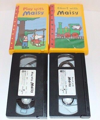 Maisy Mouse - Children's Kids VHS Tape LOT (2) Count With & Play With