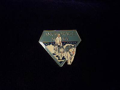 Large Enamel Anchorage Alaska Travel Souvenir Pin