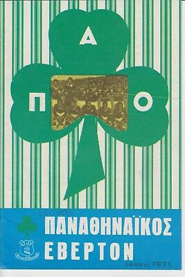PANATHINAIKOS ATHENS EVERTON 1970-71 European Cup Champions League