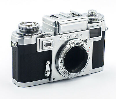 Zeiss Ikon Contax IIIa (colored dial) 1955 35mm camera Working condition