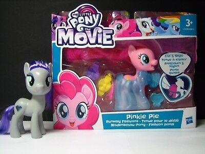My Little Pony The Movie PINKIE PIE + MAUD PIE brushable RUNWAY FASHIONS Bonus!
