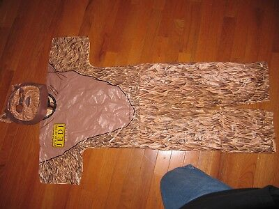 wicket the ewok costume and mask  ben cooper ages 8-10 all vinyl.