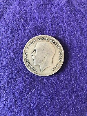 1921 George V silver half crown. Circulated