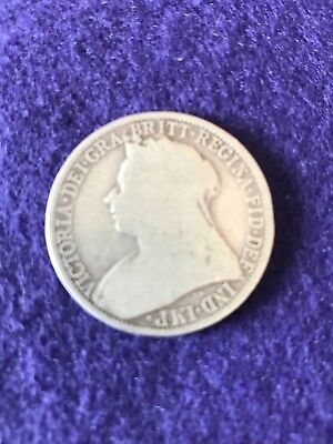 1894  Queen Victoria Silver Two Shillings / One Florin circulated