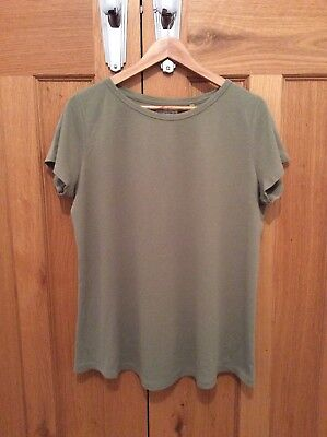 Next Maternity Sage Green Short Sleeved T-Shirt - Size: 16 (Barely Worn)