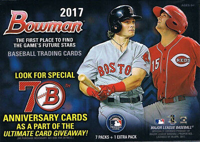 2017 Bowman (75) Factory Sealed Packs Mega Box Base + Chrome Acuna Judge Rc Lot