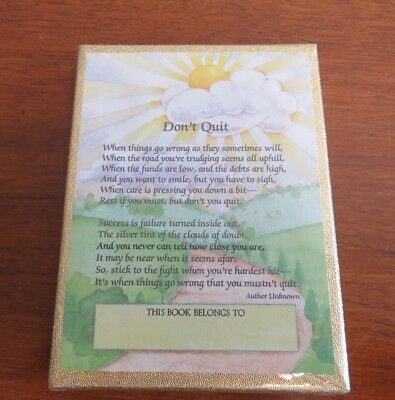 "50 Antioch Bookplates - Don't Quit Poem - ""This Book Belongs To"""