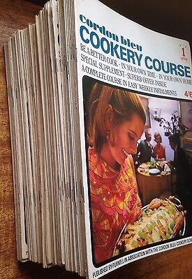 Complete set of Cordon Bleu Cookery Course magazines (issues 1 to 72)