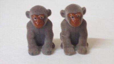 *LOOK! (2) KINDER SURPRISE Felt Monkeys SET FROM THE WILD ANIMALS BABIES SERIES
