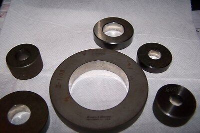 SETTING RING GAGES 6pcs. BROWN & SHARPE & MORE