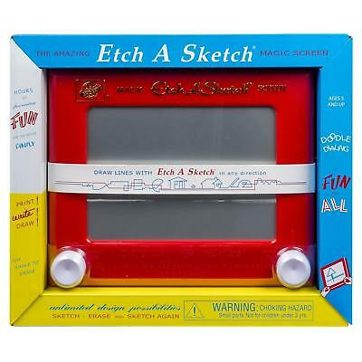 NEW Etch A Sketch Classic Red Retro '60s Art Drawing Toy Spin Master 6TOQzg1