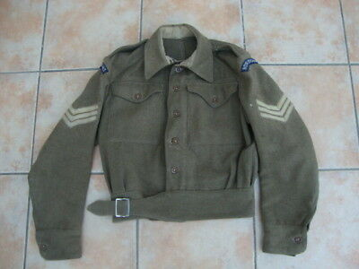 rare blouson battledress anglais ROYAL SIGNALS provenance Livarot Normandie 44