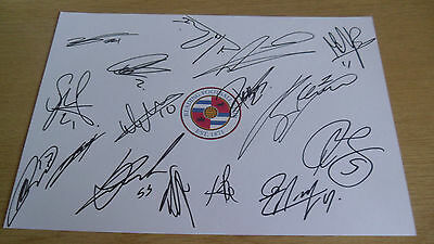 Brand New Reading Multi Signed A4 Card Sheet 17-18 Current Season