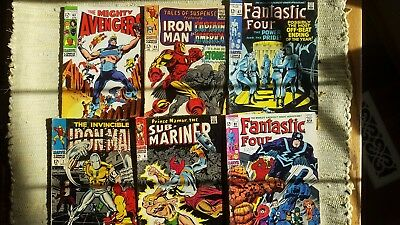 Lot: Damaged Silver Age Comics (Ironman,fantastic Four,avengers,tales Of Susp)
