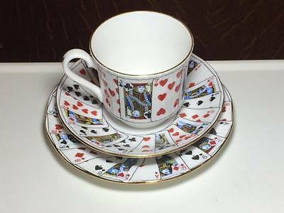 Elizabethan Staffordshire Cut for Coffee trio set made in England