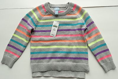 New baby gap long sleeve pull over knit sweater girls size 2T striped