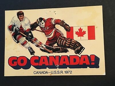 A Vintage HOCKEY POSTCARD Superseries 1972 Canada v Russia USSR Scotia Bank CCCP
