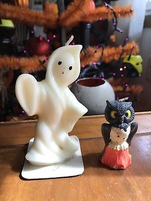 Vintage Halloween Candle Lot Gurley Ghost Owl 1950s 60s Lots More Available! MCM