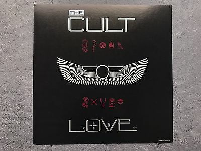 The Cult Love RARE promo 12 x 12 poster flat '85