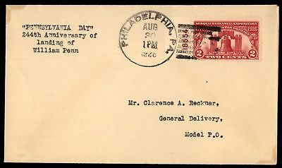 Mayfairstamps 627 Plate # Single 1926 Sesquicentennial Cover Model Post Office C