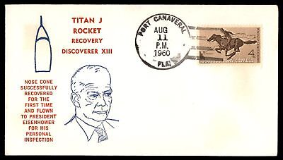 Mayfairstamps Titan J Rocket Discoverer XIII 1960 Space Cover Eisenhower Cachet