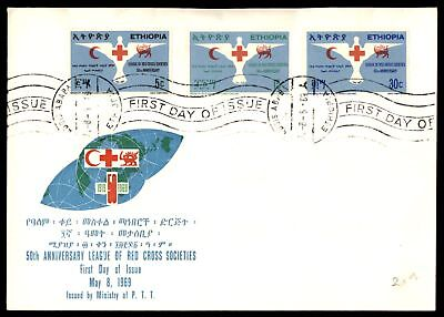 Mayfairstamps Ethiopia Red Cross Set 1969 Unsealed Unaddressed FDC Pencil mark i