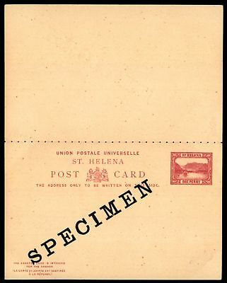 Mayfairstamps St Helena 1 Penny Red Mint Specimen Postal Stationery Reply Card