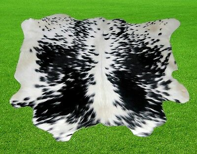 "New Calfhide Rugs Area Cow Skin Leather 7.79 sq.feet (33""x34"") Calf hide MB-2908"