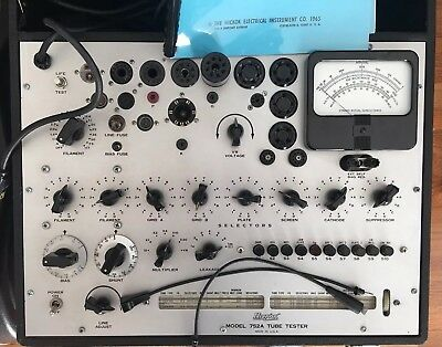 HICKOK Model 752A Dynamic Mutual Conductance Tube Tester, CRT Adapter, Flawless