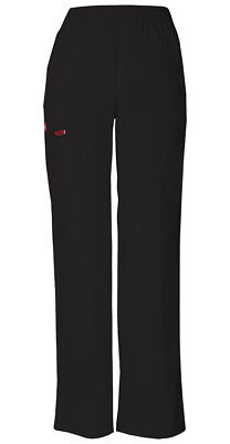 Dickies Scrubs Natural Rise Tapered Leg Petite Pant 86106P BLWZ Black Free Ship