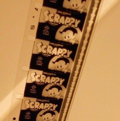 """Antique 16mm Black and White Film animated cartoon SCRAPPY in """"Gloom Chasers"""""""
