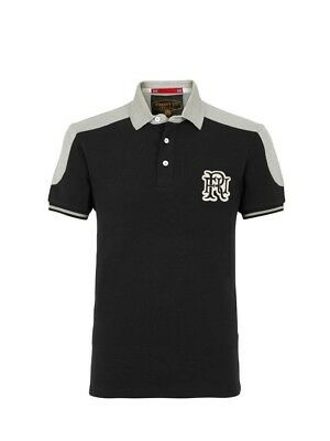 (Large, Z78 Black) - Front Up Rugby Men's World Tour Short Sleeve Polo T-Shirt