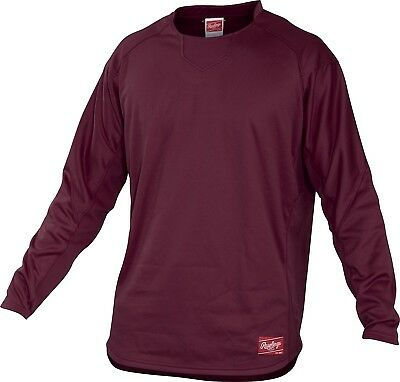 (X-Large, Maroon) - Rawlings Youth Dugout Fleece Pullover. Best Price