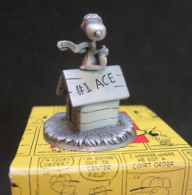 Hallmark Snoopy Peanuts Gallery Pewter Figurine FLYING HIGH #1 ACE Flying Ace