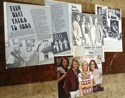 Lot Vintage Clippings ~ ABBA ~ Color Pin-Up ~ AGNETHA Bjorn ANNI-FRID Benny