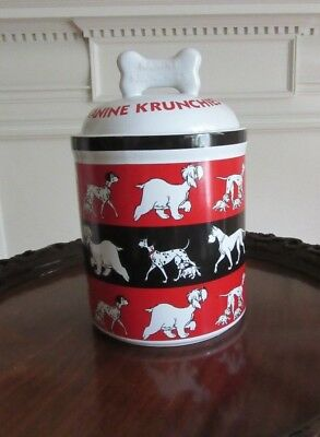 Disney 101 Dalmatians Kanine Krunchies Dog Treat Cookie Jar Canister
