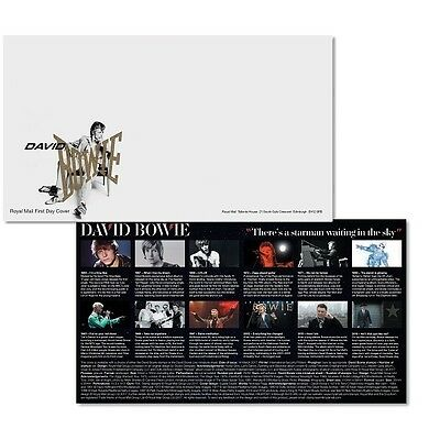 David Bowie Envelope 2017 UK Royal Mail Blank First Day Cover Music Glam Rock