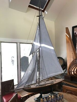 Antique Large Child's Pond Yacht, England Late 19th / Early 20th Century