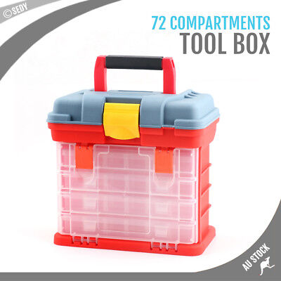 72 Compartment Storage Cabinet Tool Box Bin Chest Case Drawers Organiser Toolbox