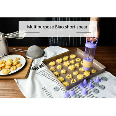 1 Set Baking Cookies Mold Practical Kitchen Pastry Cream Biscuit Decorator