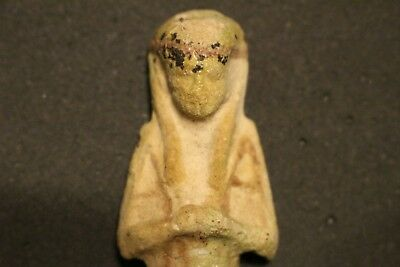 GENUINE ANCIENT EGYPTIAN FAIENCE USHABTI ,21st DYNASTY. 1069 - 945 BC