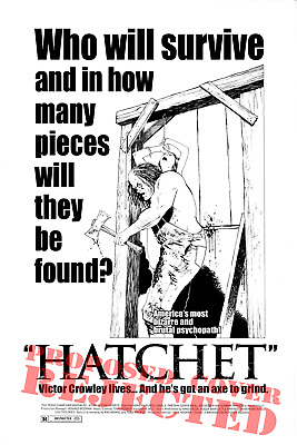 Adam Green's HATCHET! Original (rejected) Cover Art by Mike Wolfer!