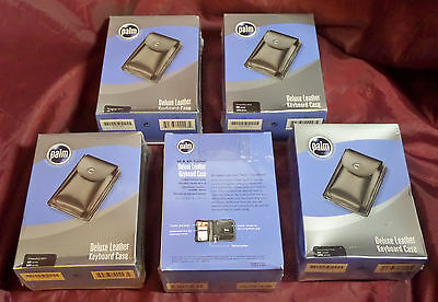 Palm PDA Deluxe Black Leather Keyboard Case for Palm lll & Vll Series - Lot of 5
