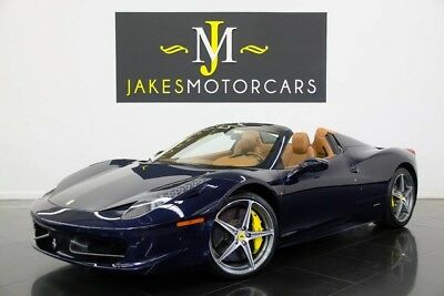 2013 Ferrari 458 Spider (1-OWNER) 2013 FERRARI 458 SPIDER, POZZI BLUE ON CUOIO, HIGHLY OPTIONED! 1-OWNER, PRISTINE