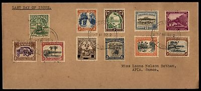 Mayfairstamps 166-173 & 185 Western Samoa Last Day of Issue 1952 Cover Definitiv