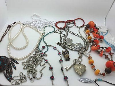 Large Lot Of Jewellery Jewelry Necklaces Costume Etc
