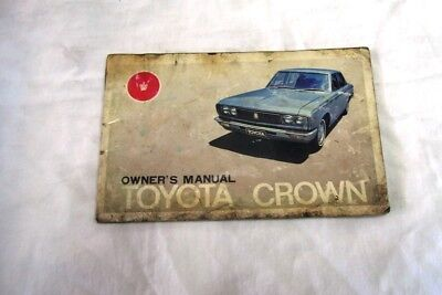 Toyota Crown Owners Manual 1970's