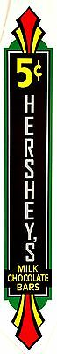 5 Cent Hershey, Milk Chocolate Bars. (Large Size) Coinop, Vending, Decal Dh 1052
