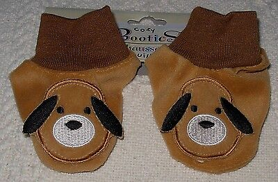 New Baby Cozy Booties Socks With Dog Face and Ears